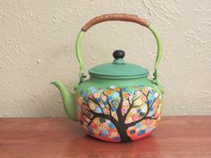 Whimsical Child's teapot painted by Pat Matzke