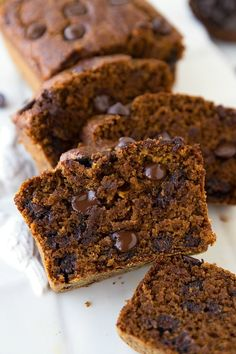 This pumpkin bread is a healthier breakfast option, made with Greek yogurt, oats, and whole wheat flour. | These Are The Best-Ever Pumpkin Recipes, According To Pinterest