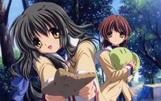 fuko and nagisa from clannad