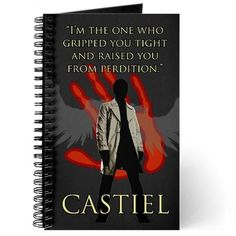 SUPERNATURAL GRIPPED YOU TIGHT Journal #cafepress #supernaturaltv #supernatural #castiel