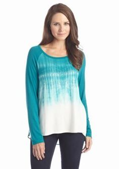 New Directions  Tie Dye Embellished Top