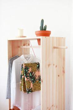 Bettina Holst DIY wardrobe with potplant holder.