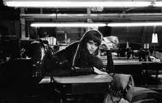 """Bob Willoughby (1927-2009) Jane Fonda resting in a New York City garment factory during shooting of """"Klute"""" 1970"""