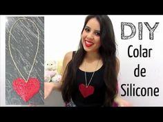 DIY - Faça você mesma: Colar de Silicone (cola quente) ♥