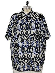 BOP Tops 100% Cotton Ikat Print Short Sleeve Tunic Top W/Shirring by WeBeBop (0X) Bop Tops by We Be Bop,http://www.amazon.com/dp/B00BLQLWCM/ref=cm_sw_r_pi_dp_bgslrb1T6WBM3JVB