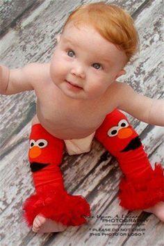 Elmo Leg Warmers by S.E. Designed (http://www.facebook.com/sedesigned)