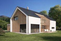 Industrious publicized easy home improvement Architecture Design, Scandinavian Architecture, Scandinavian Home, Modern Barn House, Barn House Plans, Timber House, House Cladding, Facade House, Shed Homes