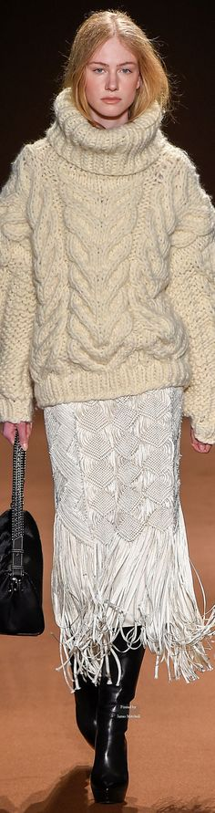 A chunky knit fisherman's sweater is one of six styles every woman should own Thick Sweaters, Cable Knit Sweaters, Knit Cardigan, Sweaters For Women, Knitwear Fashion, Knit Fashion, Sweater Fashion, Chunky Wool, Sweater Weather