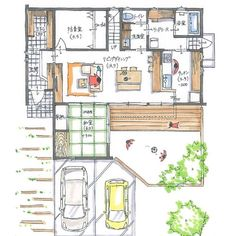 . 【ボツプラン474】 外観について、2階の窓上と軒先をま... Japanese House, My House, House Plans, Floor Plans, House Design, Flooring, How To Plan, Interior Design, Architecture