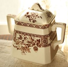 lovely brown transferware...I got the small pitcher that matches this exact print. How cool!!!