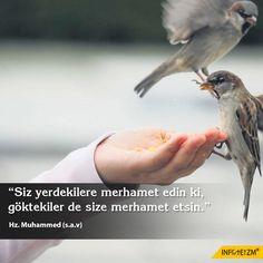 """Siz yerdekilere merhamet edin ki, göktekiler de size merhamet etsin."" Hz. Muhammed (s.a.v) #kişiselgelişim #infoteizm #HzMuhammed"