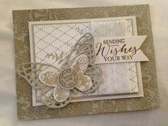 Classic butterfly Butterfly Cards, Flower Cards, 3d Cards, Stampin Up Cards, Scrapbook Cards, Scrapbooking, Stampin Up Catalog, Creative Cards, Homemade Cards