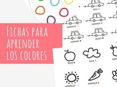 Fichas para aprender los colores
