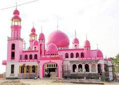 The Pink Mosque of Datu Saudi Ampatuan, Maguindanao, Philippines
