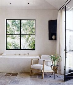 Rustic Bathroom. There are many things, I like about this bathroom. Look at the uneven earthy tiles for example! www.betseysook.com.