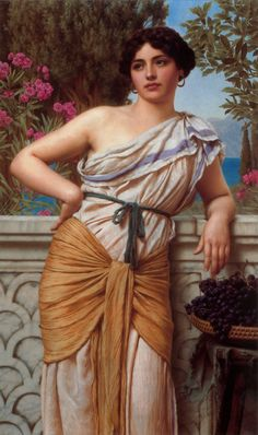 John William Godward Godward A Tryst oil painting for sale; Select your favorite John William Godward Godward A Tryst painting on canvas or frame at discount price. John William Godward, John William Waterhouse, Lawrence Alma Tadema, Classic Paintings, Beautiful Paintings, Art Paintings, Dante Gabriel Rossetti, Oil Painting Reproductions, Classical Art
