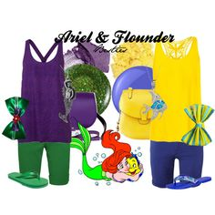 """Ariel & Flounder"" by amarie104 on Polyvore"
