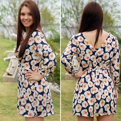 NWT Adorable Floral Romper Navy Yellow This romper is so adorable and perfect for springtime! It runs a little small, so size up if you have bigger hips. Adjustable sleeves for different lengths! Paperback Boutique Dresses Mini