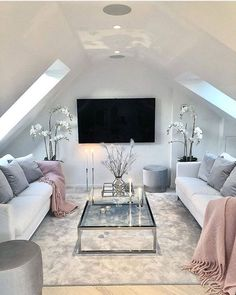 Savory Attic Rooms Heavens Ideas - 10 Simple and Stylish Ideas Can Change Your Life: Attic Master Bedroom attic bedroom cottage. Attic Living Rooms, Attic Master Bedroom, Attic Bedroom Designs, Attic Design, Attic Spaces, Bedroom Loft, Living Room Decor, Interior Design, Attic Bathroom