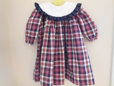 Size 3T Toddler Girl Boutique Bailey Boys Plaid by LittleMarin,