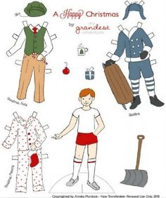 Paper Doll Christmas (80 pieces)