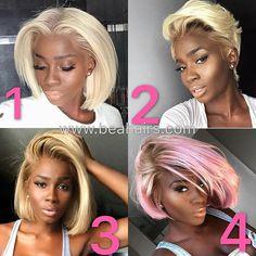 Blonde or Pink hair. Black Girls Hairstyles, Hairstyles With Bangs, Weave Hairstyles, Line Bob Haircut, Bob Haircut With Bangs, Natural Hair Bob, Natural Hair Styles, Braids With Weave, Hair Laid