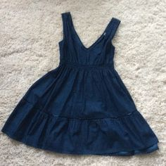 Denim Dress by Seven7 So cute and only worn once! Great with a belt or under a plaid shirt! * last picture is not an actual photo of dress (similar style) Seven7 Dresses