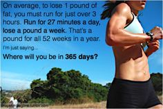 This is the perfect question that we ask all of our clients at New You Boot Camp. Start your 365 days today!!!!!  Www.newyoubootcamp.com