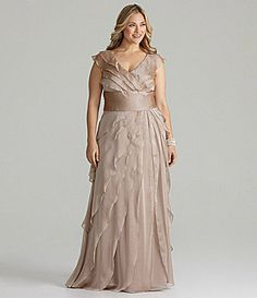fb91d0629c3 mother of the bride dress Adrianna Papell Woman Tiered Gown  Dillards  Wedding Bridesmaids