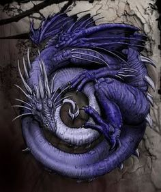 Purple Dragon Art Print. Get in-depth info on the Chinese Zodiac Sign of Dragon @ http://www.buildingbeautifulsouls.com/zodiac-signs/funny-horoscopes/funny-chinese-zodiac/enter-year-dragon/