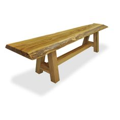 reclaimed solid wood slab benches made from historic lumber and timbers from old buildings and barns - Solid Wood Desk