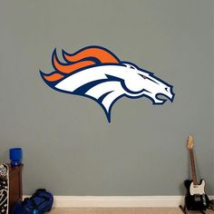 6 Inch BSU Broncos Logo Pennant Flag Boise State University Removable Wall Decal Sticker Art NCAA Home Room Decor 6 1//2 by 3 1//2 Inches