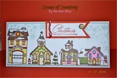 Christmas Village card with CTMH Christmas Village stamp set.