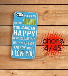 iPhone 4S Case Slim Profile  You Are My by TheCuriousCaseLLC, $16.99