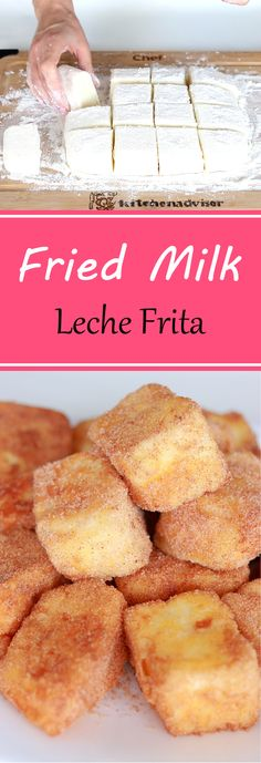 Fried Milk Spanish Dessert (Leche frita) is one of the most popular recipes in Spain. Treat yourself with delicious and simple dessert recipe. food recipes Leche Frita (Fried Milk) – the best Spanish Dessert Bakery Recipes, Milk Recipes, Cooking Recipes, Flour Recipes, Cooking Tips, Desserts Espagnols, Fried Milk, Spanish Dishes, Spanish Tapas