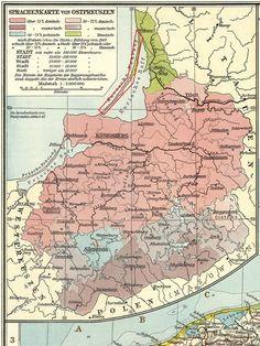 East Prussia Language Map