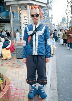 Aesthetic Institute — Selections from FRUiTS Magazine No. Japanese Street Fashion, Tokyo Fashion, Harajuku Fashion, Runway Fashion, Tokyo Street Style, Street Look, Street Wear, Fruits Magazine, Aesthetic Vintage