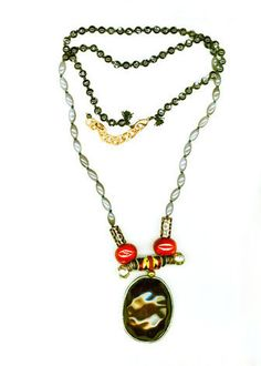 BLACK-PURPLE GLASS WITH STONE NECKLACE Stone Necklace, Washer Necklace, Pendant Necklace, Purple Glass, Handmade Bracelets, Jewellery, Boho, Earrings, Black