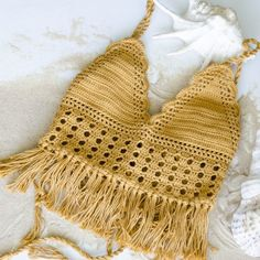 Mustard color crochet top #bohemian #hippie #musicfestival #bohobeach