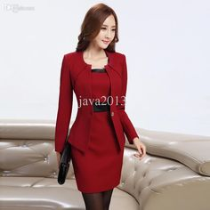 f9a6bebf7dc Wholesale-New Women Business Dress Suits Formal Office Suits Work Women  Dress Suits Women Work
