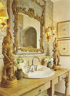 Carither's powder room~ Looking Glass