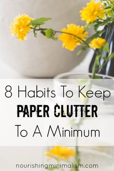 Papers are easily one of the number one clutter issues in our lives. We are afraid to get rid of something, for fear of needing the information on it, or needing a copy of it. We feel shame for not filing utility bills and grocery receipts. Aren't we supposed to compare our receipts to our …