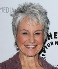 Andrea Romano Hairstyle: Casual Short Straight Hairstyle