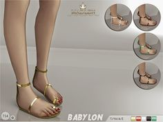My Sims 4 Blog: MJ95's Madlen Babylon Sandals
