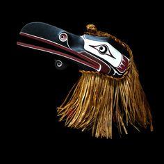 Raven Mask by Donald Svanvik Native Indian, Native Art, American Indian Art, Native American Indians, Raven Mask, Haida Art, Tlingit, Native Design, Coastal Art