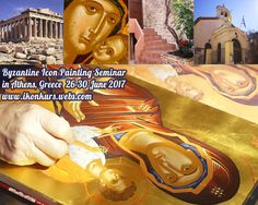 Painting Courses, Byzantine Icons, Athens Greece, June