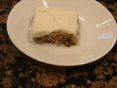 A Bear in the Kitchen: Banana Bread Bars with Cream Cheese Frosting