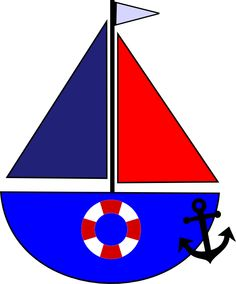 Sailboat, Anchor and Life Preserver