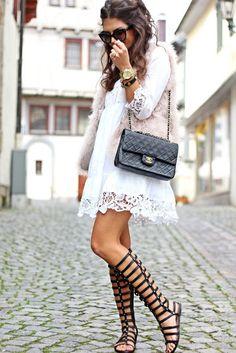 Blog da Luciana Fraga: 5 looks com sandália Gladiadora!
