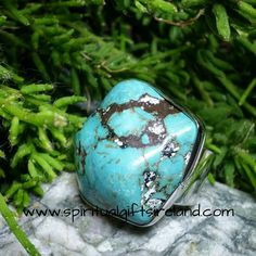 Turquoise Self Discovery Crystal Gemstone Adjustable Ring